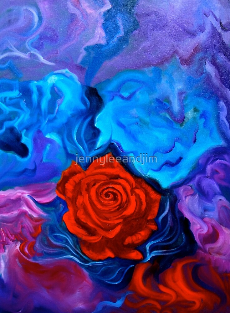 Bursting Rose by jennyleeandjim