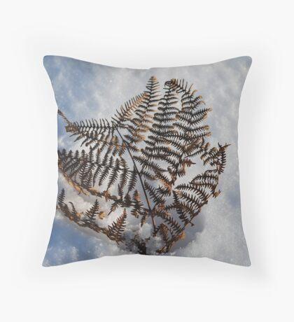 A Cold Fern Throw Pillow
