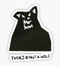 Pegatina realmente hay un lobo
