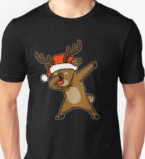 Dabbing Reindeer Shirt Christmas Dab Rudolph Reindeer TShirt Unisex T-Shirt