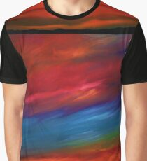 Fire Sky - Large Abstract Sky Oil Painting  Graphic T-Shirt