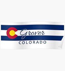 Grover Colorado flag stripe Poster