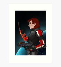 Commander Jane Shepard Art Print