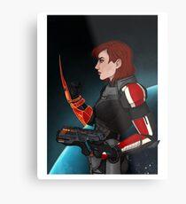 Commander Jane Shepard Metal Print