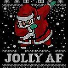 Hässlicher Weihnachtsstrickjacke, die Sankt-Hemd abtupft Jolly AF T-Shirt von vomaria