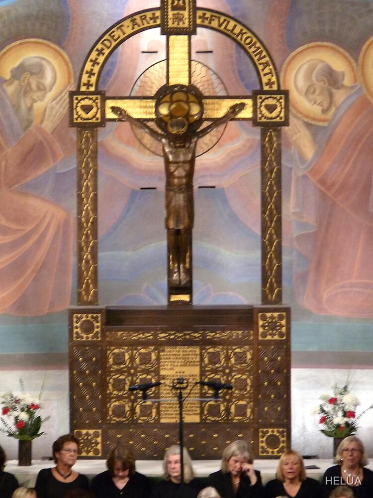 Crucifix in Art Nouveaux by HELUA