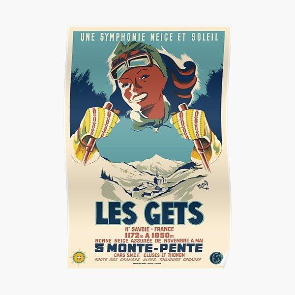 Les Gets, une symphonie neige et soleil, Ski Poster Poster