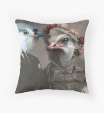 Ted and Olivia Throw Pillow
