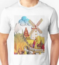 Cartoon scene in Low Poly style T-Shirt