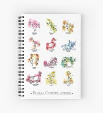 Floral Constellations - Chromatic Spiral Notebook