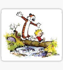 Calvin and Hobbes 8 Sticker