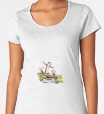 Calvin and Hobbes 8 Women's Premium T-Shirt