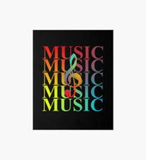 Music Fans Modern Colorful Music Typography Design Art Board