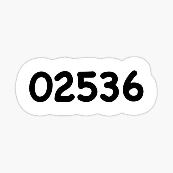 02536 – East Falmouth, MA Sticker