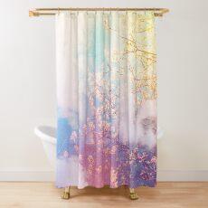 Cortina de ducha la primavera soñando