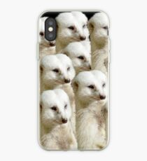 Army Of White Meerkats On The March, iPhone Case