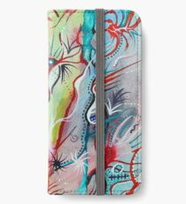 Abstract flora and fauna under the sea iPhone Wallet/Case/Skin
