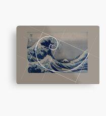 Hokusai Meets Fibonacci Metal Print