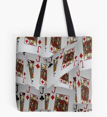Poker, Jacks, Playing Cards In A Layered Pattern Tote Bag