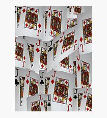 Poker, Jacks, Playing Cards In A Layered Pattern Photographic Print