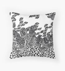 Wind and Leaves Throw Pillow