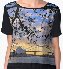 Sunset over Sydney Harbour, Australia Women's Chiffon Top
