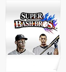 Giancarlo Stanton Aaron Judge Yankees Super Bash Bros Poster