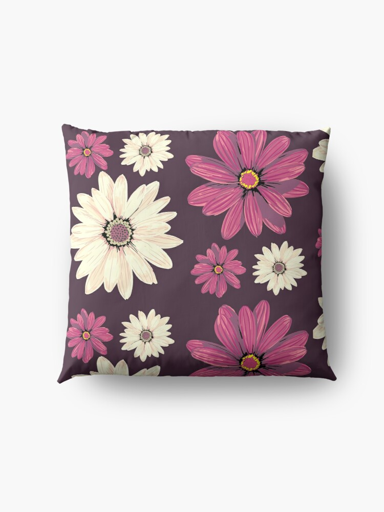 Alternate view of Flowers are an animation for our lives Floor Pillow