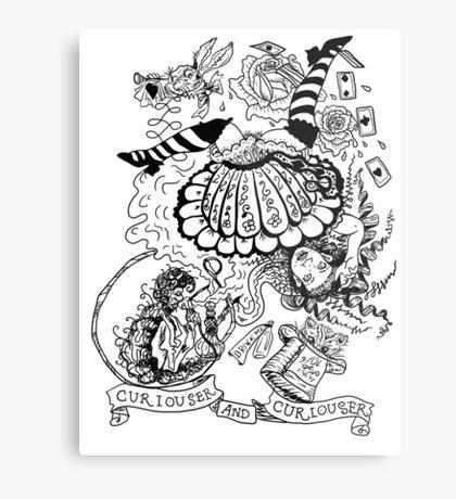 Curiouser and Curiouser Metal Print