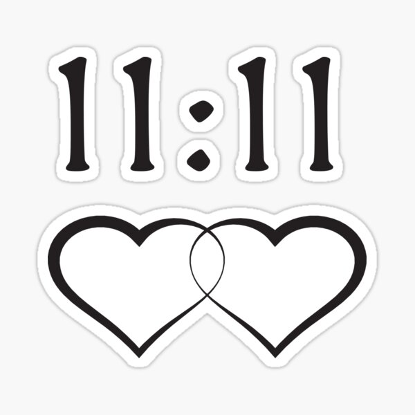 Linked Hearts Soul Mates Connections 11:11  Sticker