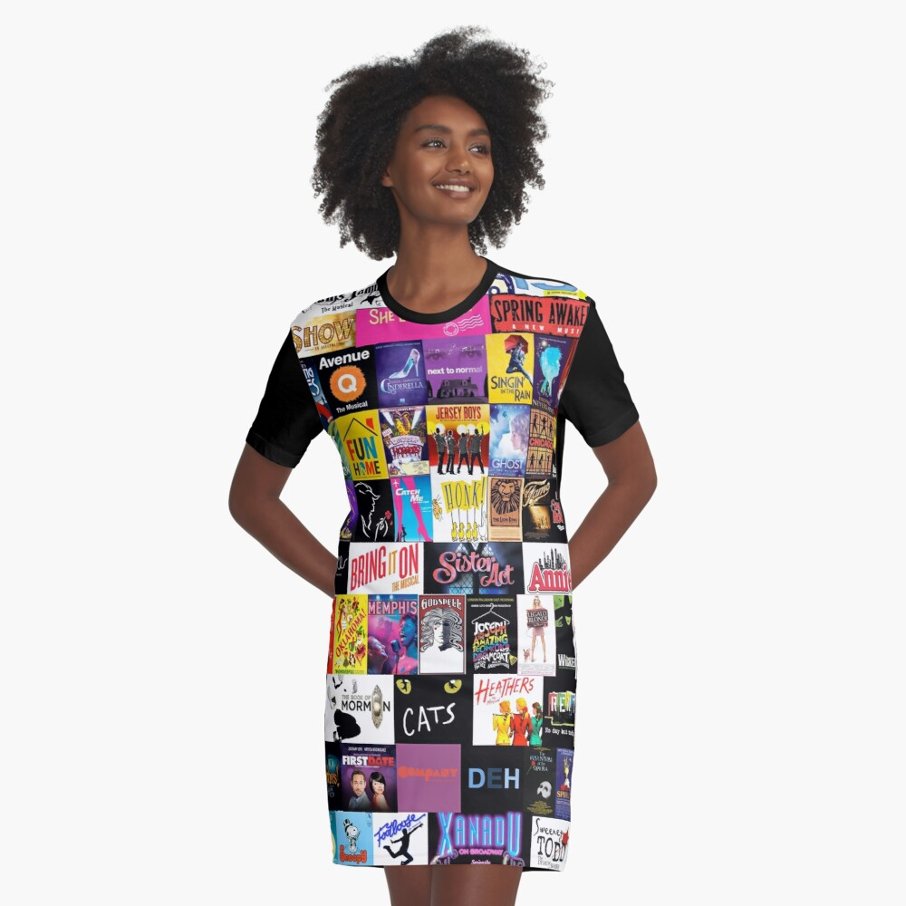 MUSICALS! (Duvet, Clothing, Book, Pillow, Sticker, Case, Mug etc)  Graphic T-Shirt Dress