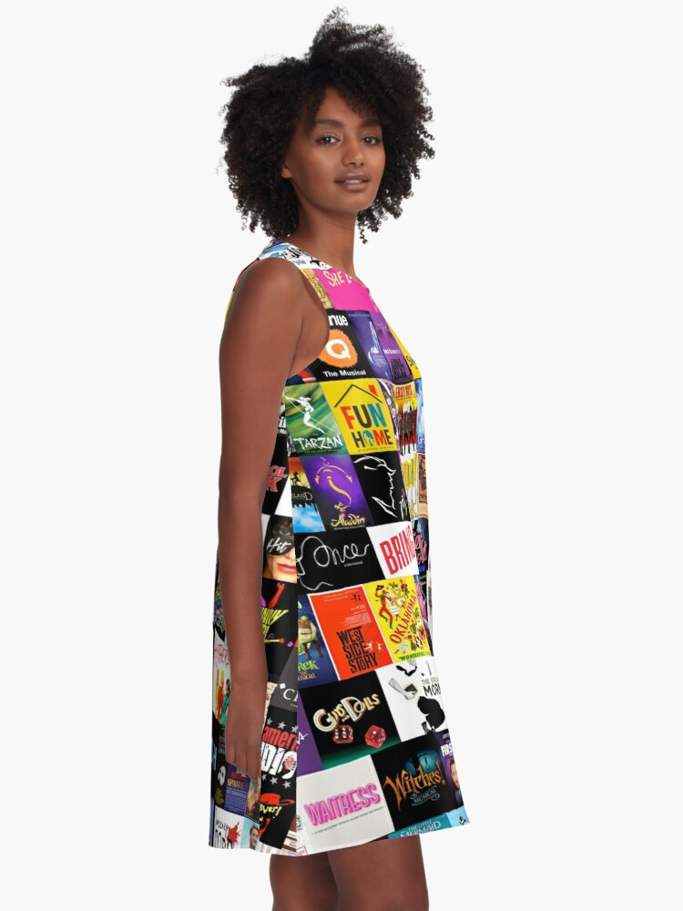 Alternate view of MUSICALS! (Duvet, Clothing, Book, Pillow, Sticker, Case, Mug etc)  A-Line Dress