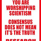 RED WARNING SIGN RESEARCH FLAT EARTH by GLOBEXIT