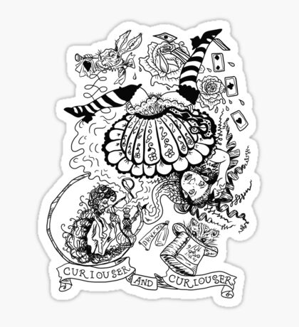 Curiouser and Curiouser Sticker