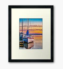 Sunrise On The Petaluma River Framed Print