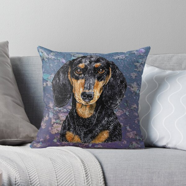 Dachshund to Love and Adore Throw Pillow