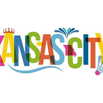 Kansas City, Missouri Typography City Collage by phoneticwear