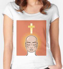 Christian meditation cross Women's Fitted Scoop T-Shirt