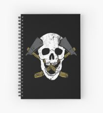 Skull Axe Spiral Notebook