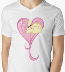 Heart Of Fluttershy Men's V-Neck T-Shirt