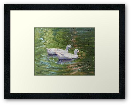 Two White Ducks #2 by Missman