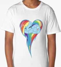 Heart Of Rainbow Dash Long T-Shirt