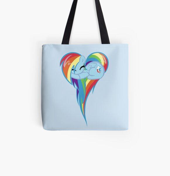 Corazón de Rainbow Dash Bolsa estampada de tela