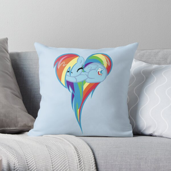 Heart Of Rainbow Dash Throw Pillow