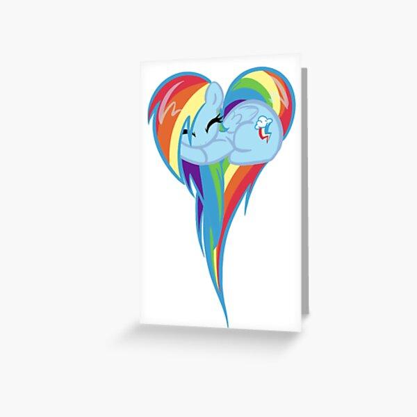 Coeur de Rainbow Dash Carte de vœux
