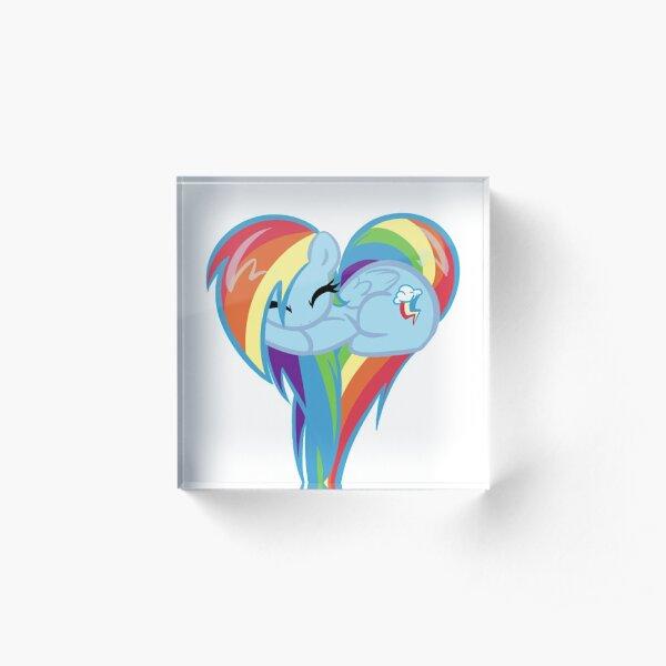 Heart Of Rainbow Dash Acrylic Block
