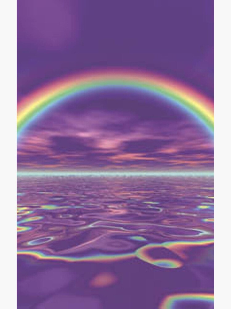 Rainbow Aesthetic Greeting Card By Mariah5sos Redbubble