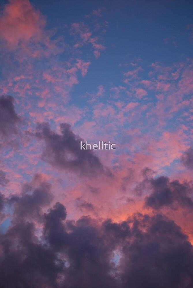 sunset sky by khelltic