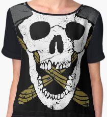Skull Axe Chiffon Top