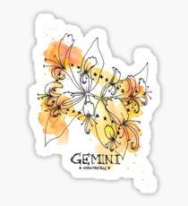 Floral Constellations - Chromatic Gemini Sticker